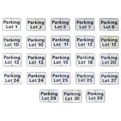 Vintage Metal Parking Lot Number Signs
