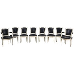 Set of Eight Louis XVI Style French Dining Chairs