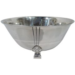 Tiffany Mid-Century Modern Sterling Silver Classic Palmette Bowl