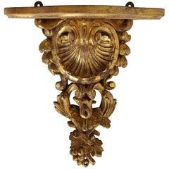 Carved Gilded Wood Bracket