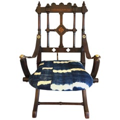 Rare 19th Century Eastlake Campaign Style Folding Chair