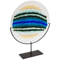 Murrine Plate by Laura de Santillana for Venini Murano Limited Early Edition