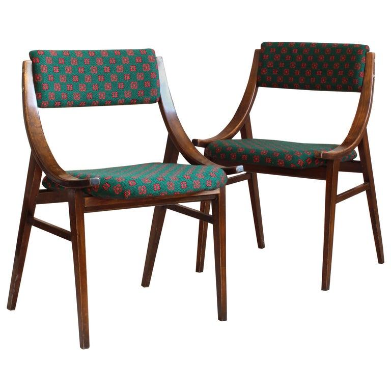 Jumper Dining Chairs from Zamojskie Fabryki Mebli in Green, 1970s