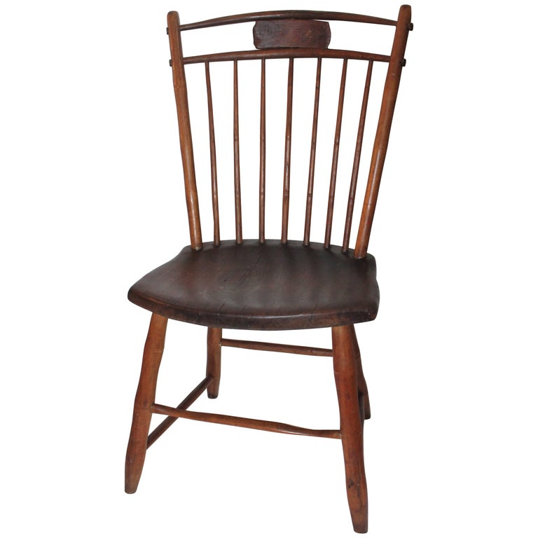 19th Century Windsor Chair from Pennsylvania For Sale