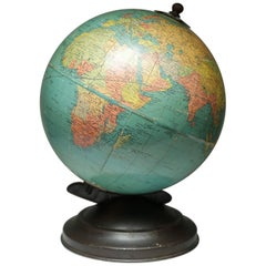 1940s World Globe with Metal Base