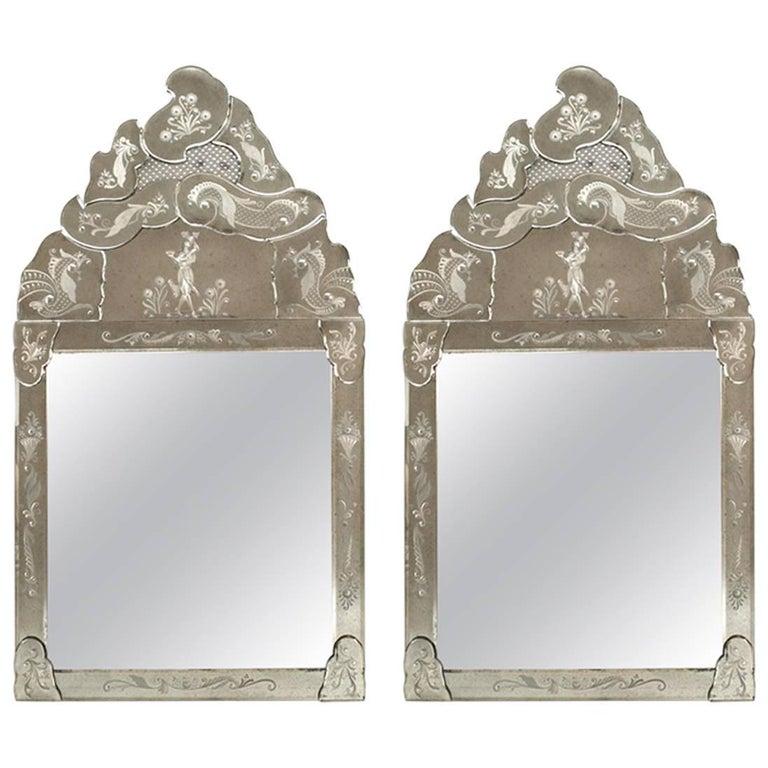 Italian 'Late 19th Century' Murano Mirrors
