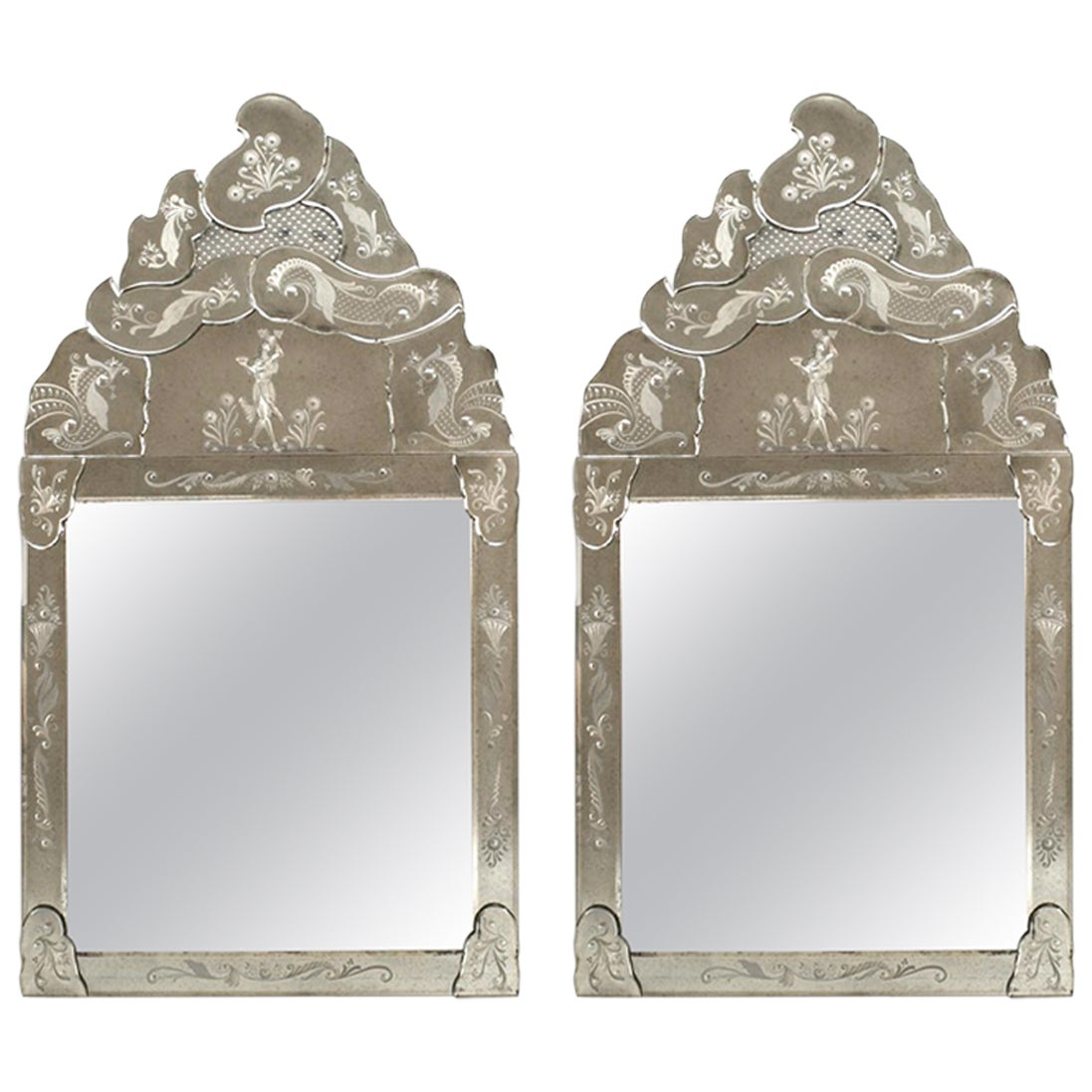 Italian 'Late 19th Century' Murano Mirrors