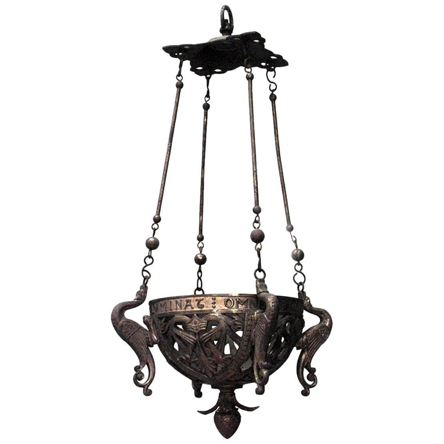Similar English Gothic Revival Style, 19Th Century Six Sided Sanctuary Fixtures