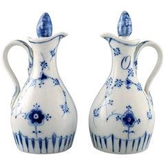 Bing & Grondahl, B&G Blue Fluted, Oil/Vinegar Set, Mid-20 Century