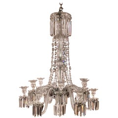 Antique French Baccarat Crystal Chandelier, circa 1900-1920