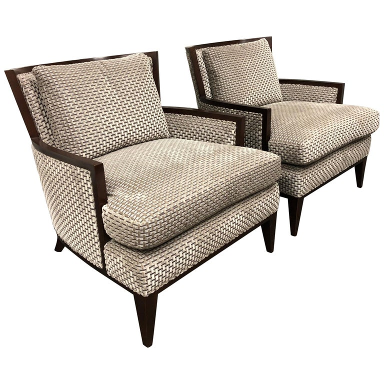 Pair of Barbara Barry California Lounge Chairs for Baker Furniture