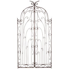 Pair of 1920s Spanish Revival Iron Garden Gates