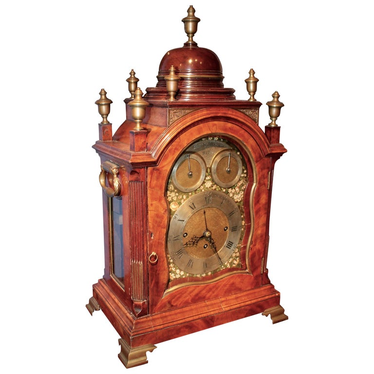 18th Century English Chippendale Bracket Clock