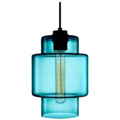 Axia Condesa Handblown Modern Glass Pendant Light, Made in the USA