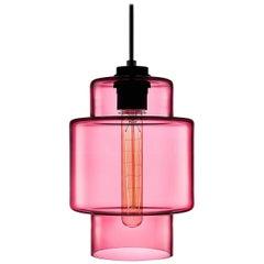 Axia Rose Handblown Modern Glass Pendant Light, Made in the USA