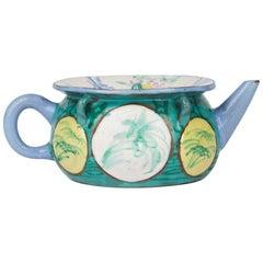 Antique Chinese Enameled Yixing Teapot, 18th Century
