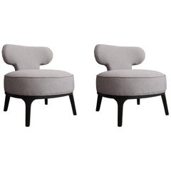 French Design and Lounge Pair of Armchairs