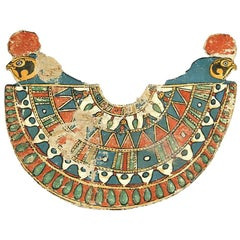 Ancient Egyptian Pectoral Collar, 150 BC-30 BC, Painted Cartonnage and Stucco