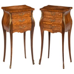 Pair of French Kingwood Miniature Commodes