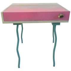 Contemporary Handmade Blue and Pink Bureau Desk by Superpoly