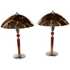 Art Deco Dome Lamps