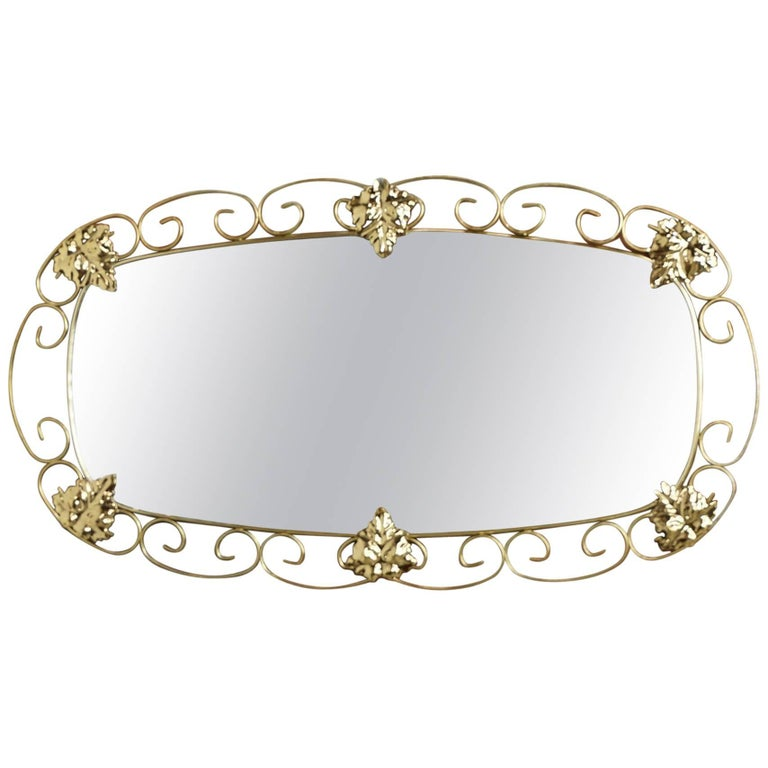 Brass Mirror from the 1950s
