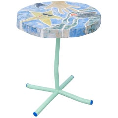 Contemporary Handmade Ceramic Tile Side Table