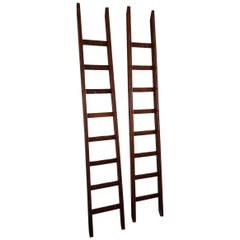 Early 20th Century Rural Wooden Pinned Ladders