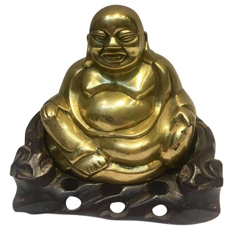 20th Century, Laughing Buddha, Bronze