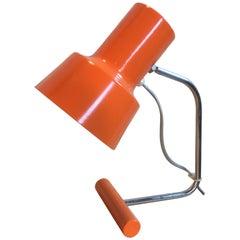 Orange Table Lamp by Josef Hurka for Napako, 1960s