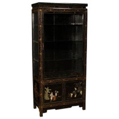 French Vitrine in Lacquered Chinoiserie Wood from 20th Century