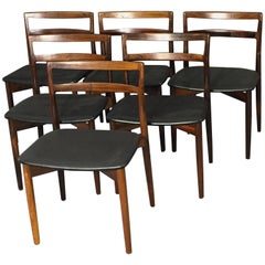 Harry Østergaard Dining Chairs Model 61, Mid-Century Modern Rosewood, 1960s