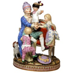 Meissen Figurines the Good Father Model H 98 by Johann Carl Schoenheit