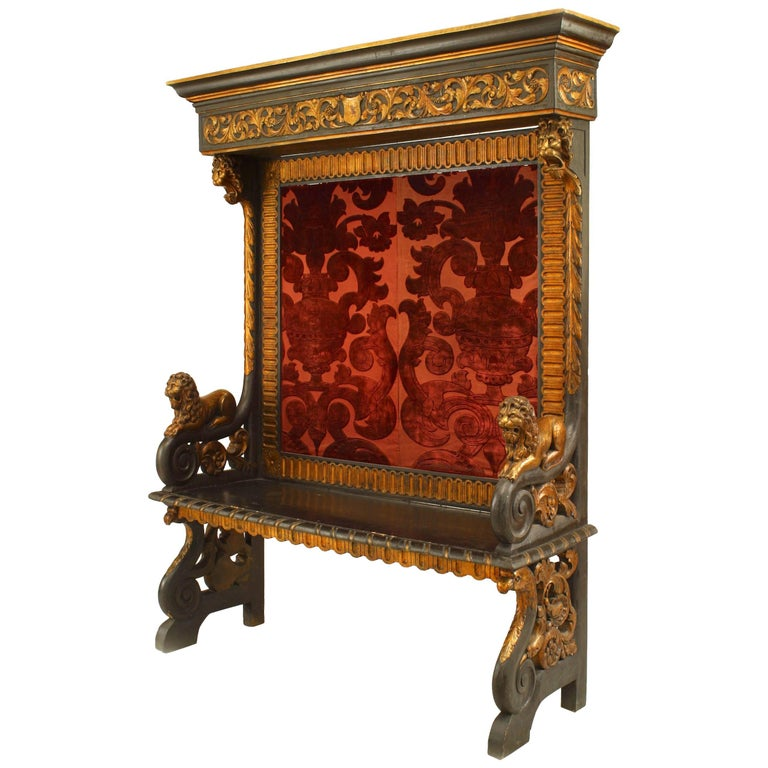 Italian Renaissance Style '19th Century' Hall Bench