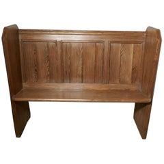 Victorian Pine Kitchen Bench or Church Pew