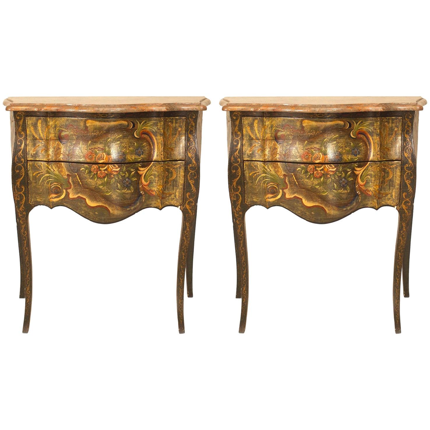 Pair of Italian Venetian '19th-20th Century' Commodes