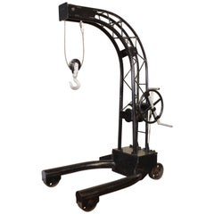 Vintage Industrial Engine Hoist Hanging Chair Frame