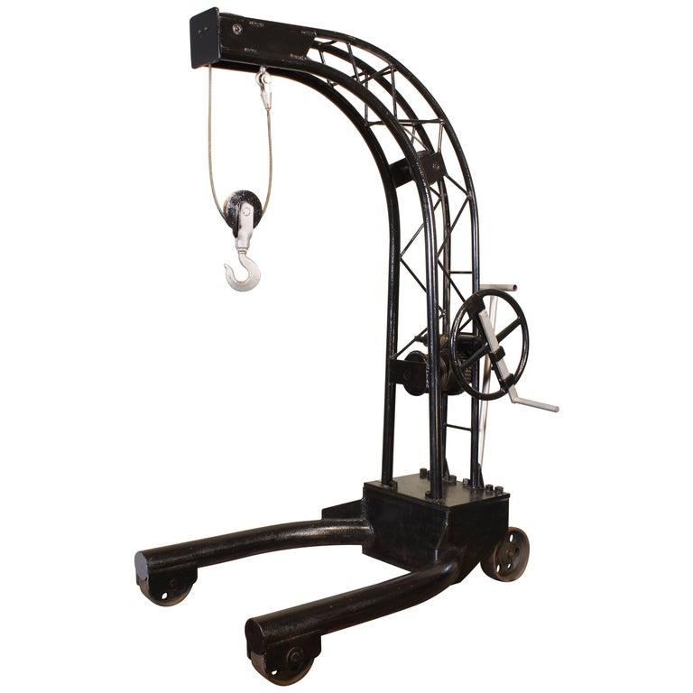 Vintage Industrial Engine Hoist Hanging Chair Frame For Sale at 1stdibs