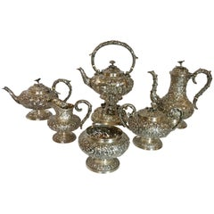 Antique American Sterling Silver Six-Piece Tea and Coffee Service