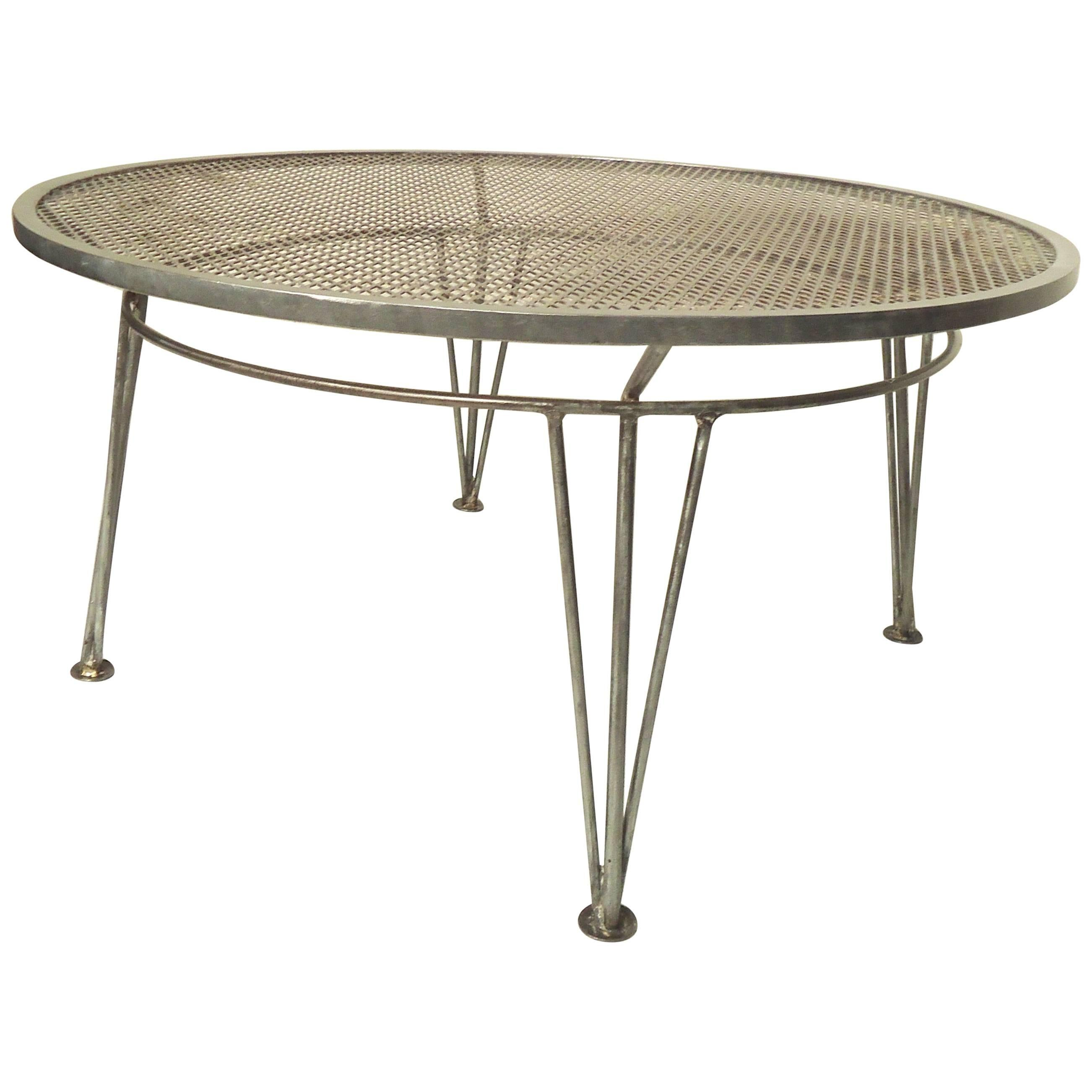 Refinished Salterini Metal Table For Sale