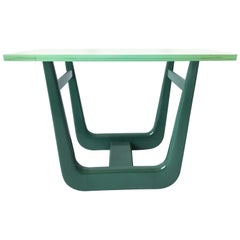 Paul Laszlo Interior Attributed Original Green Lacquer Side Table