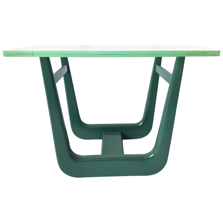 Paul Laszlo Interior Attributed Original Green Lacquer Side Table