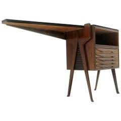 Italian Midcentury Wooden Console Desk, 1950s