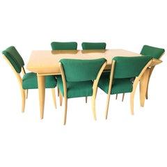 Paul Laszlo Brown Saltman Knife-Leg Dining Table Chairs Set