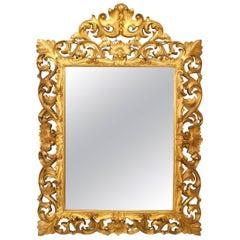 Italian Rococo Florentine Style '19th Century' Giltwood Wall Mirror