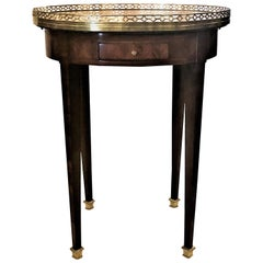 Antique French Marble Top Bouillet Table, circa 1870