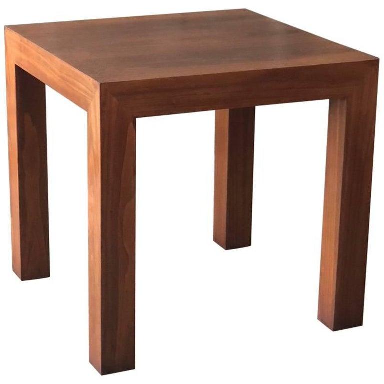 Vladimir Kagan Parsons Table in Walnut For Sale