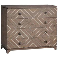 Inlaid Geometric Front Chest of Drawers