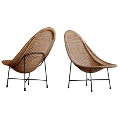 Pair of Kerstin Hörlin-holmquist Easy Chairs Model Stora Kraal, 1960s