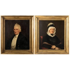 Portraits of John Preston and Ann Mann by Anonymous